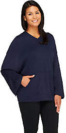 Lisa Rinna Collection Sweater Poncho withHood
