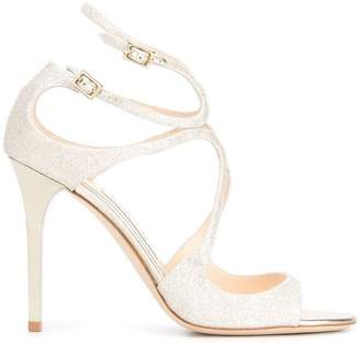 Jimmy Choo platinum ice Lang 100 leather sandals