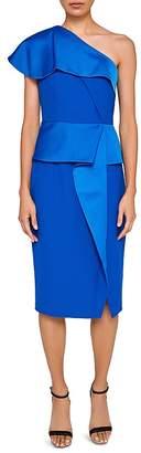 Ted Baker Pana One-Shoulder Peplum Dress