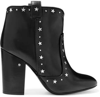 Laurence Dacade - Pete Studded Leather Ankle Boots - Black $940 thestylecure.com