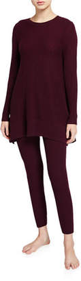 Neiman Marcus Two-Piece Cashmere Crewneck Tunic & Leggings Set