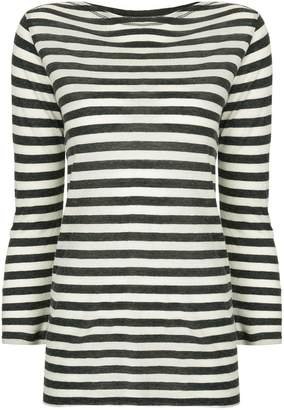 Majestic Filatures striped long sleeve top