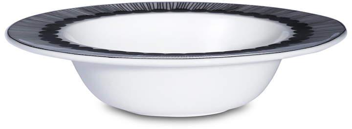 Oiva Siirtolapuutarha Tiefer Teller, Ø 20 cm, schwarz / weiß