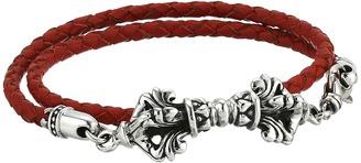 King Baby Studio - Double Wrap Leather w/ Vajra Clasp Bracelet Bracelet $490 thestylecure.com