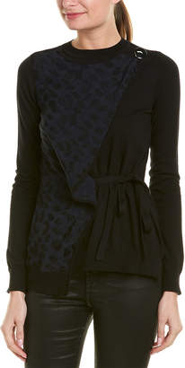 Yigal Azrouel Wrap Silk & Cashmere-Blend Sweater