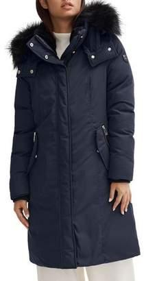 Noize Removable-Hood Faux Fur-Ruff Parka Coat