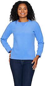 Denim & Co. Textured Chenille Sweatshirt