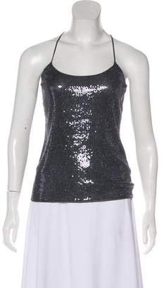 Giorgio Armani Sequined Sleeveless Top