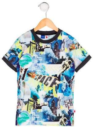 Molo Boys' Printed Knit Shirt