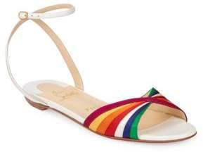 Christian Louboutin Nasseba Ankle-Strap Rainbow Flats