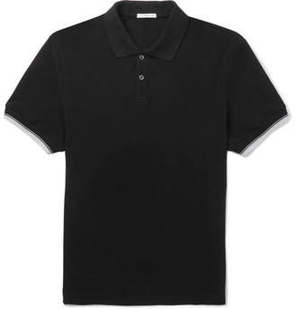 James Perse Contrast-Tipped Cotton-Pique Polo Shirt - Men - Black