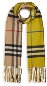 Burberry Reversible Giant Check Cashmere Scarf