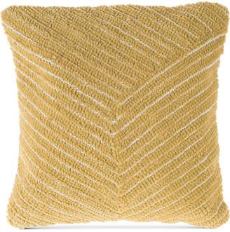 "Trademark Global Modern Geometric Diagonal Stripe 18"" Decorative Throw Pillow"