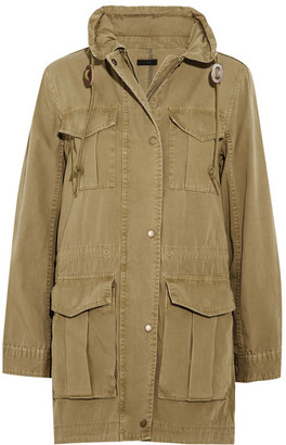 J.Crew - Fatigue Hooded Cotton-canvas Jacket - Army green $160 thestylecure.com
