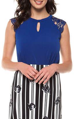 Dex Lace Cap-Sleeve Top