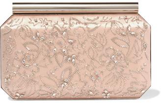 Oscar de la Renta - Saya Embellished Satin Clutch - Blush $1,790 thestylecure.com