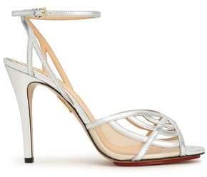 Charlotte Olympia Cutout Metallic Leather Sandals