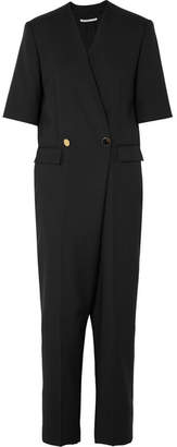 Stella McCartney Cecilia Double-breasted Wool And Mohair-blend Jumpsuit - Black