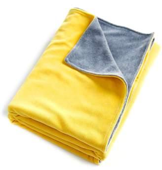 Mundo Melocotón Mundo Melocoton Velour Blanket for Cot Yellow/Grey Heather