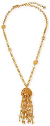 Oscar de la Renta Shell Tassel Necklace
