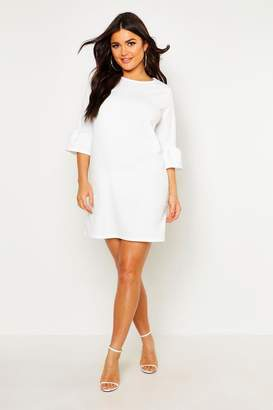 boohoo Ruffle Sleeve Shift Dress