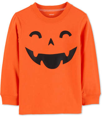 Carter's Baby Boys Jack-o-Lantern-Print Cotton T-Shirt