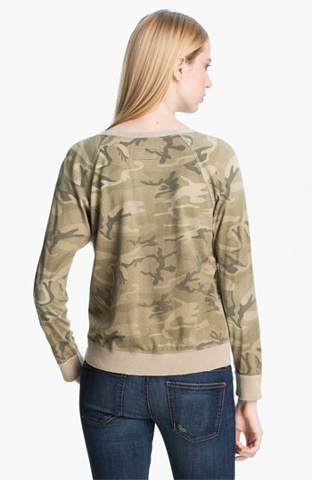 Current/Elliott 'Letterman' Camo Print Sweatshirt Safari Camo 0