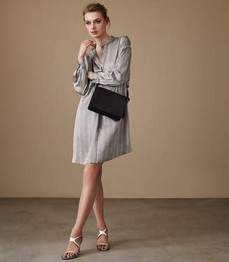 Reiss MARIBEL OVERSIZED SHIRT DRESS Grey