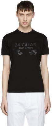 DSQUARED2 Black 24-7 Star T-Shirt
