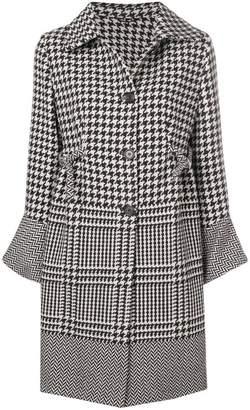 Ermanno Scervino oversized sleeve patterned coat