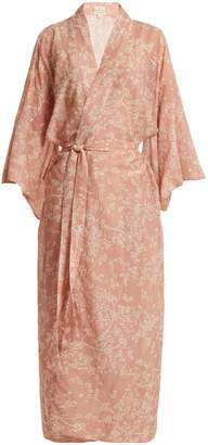 DAY Birger et Mikkelsen CHUFY Cherry Blossoms cotton and silk-blend kimono