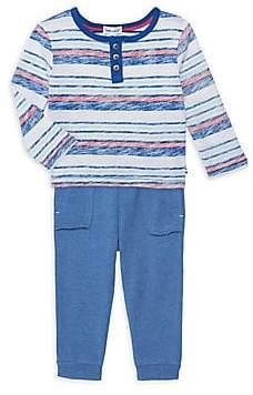 Splendid Baby Boy's Reverse Stripe Two-Piece Sweater and Joggers Set