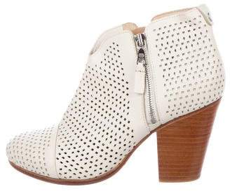 Rag & Bone Leather Laser Cut Ankle Boots