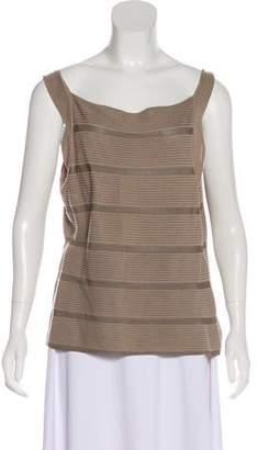 Armani Collezioni Striped Knit Top