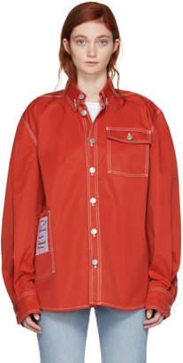 Vetements Red Workwear Shirt