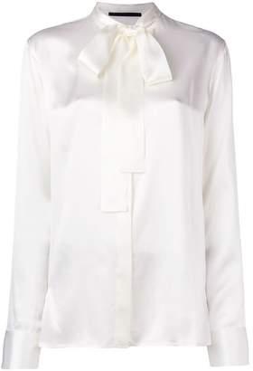 Haider Ackermann satin tie neck blouse