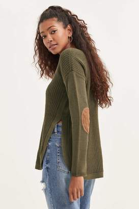 Ardene Rounded Sweater with Elbow Patches