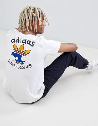 adidas Skateboarding Skateboarding T-Shirt With Back Print In White DH3934