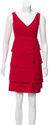 Valentino Ruffle-Tiered Dress