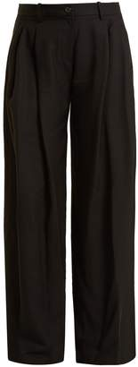 Nili Lotan Inez wide-leg twill trousers