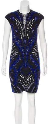 Alexander McQueen Wool Intarsia Dress