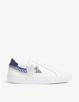 Claudie Pierlot Atulipe leather lace-up trainers
