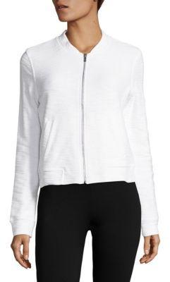 Cotton Zip-Up Jacket $78 thestylecure.com