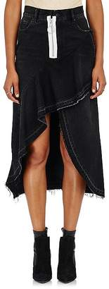 Off-White Women's Zip-Detailed Denim Midi-Skirt