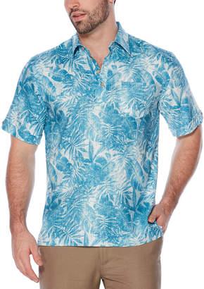 Cubavera Short Sleeve All Over Palm Print Pop Over Shirt