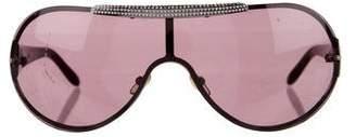 Valentino Embellished Shield Sunglasses