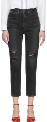 Moussy Vintage Black Stuart Boy Skinny Jeans