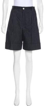 Chanel Pinstripe Mini Shorts