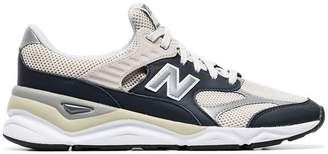 New Balance off-white X90 caged leather low-top sneakers