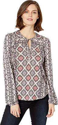 Lucky Brand Women's Printed TOP with Tassles in